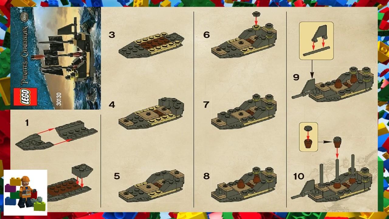 Lego Instructions Pirates Of The Caribbean 30130 Mini Black