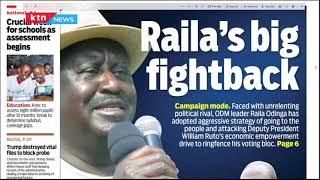 Raila's Big fightback, Orengo calls to Uhuru to dissolve cabinet, Teen pregnancies | Press Review