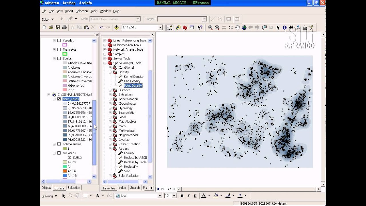 ArcGis - Spatial Analyst Map Algebra - YouTube