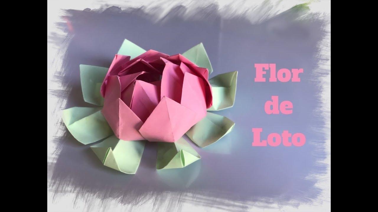 Origami Flor De Loto De Papel Decora Tu Casa Youtube