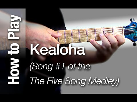 "Learn to Play ""Kealoha"" - Slack key Taro Patch or Open G Tuning Ki Ho"
