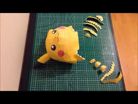 Papercraft POKEMON GO BIG PIKACHU STOP MOTION PAPERCRAFT - SCOUZY