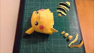 POKEMON GO BIG PIKACHU STOP MOTION PAPERCRAFT - SCOUZY