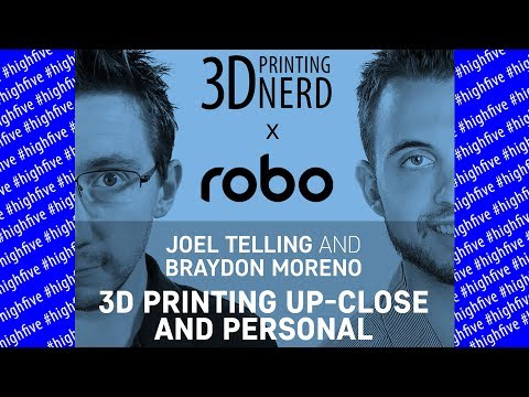 Braydon Moreno & I Unbox a Robo R2 3D Printer and Have a Chat