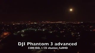 Shooting video at night DJI Phantom 3 advanced