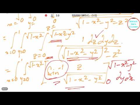 TRIPLE INTEGRATION MATHEMATICS  ISI ,DSE ,JNU ,IGIDR , ONLINE LECTURES,YEARLY SOLVE