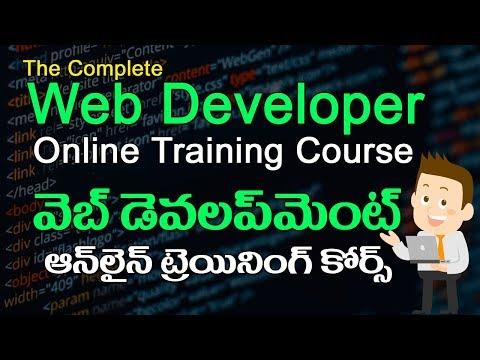 The Complete Web Developer Course - Online Training in Telugu