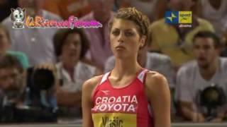 Mondiali Atletica Berlino 2009: Finale salto in alto Donne - Blanka Vlasic 2.04 - 2/3 - 20 agosto