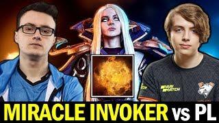 MIRACLE back to Exort Invoker — vs Epileptickid Phantom Lancer Dota 2