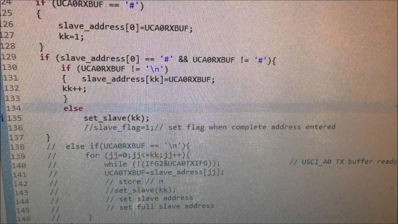 MSP430 Hardware Interrupt via UART: C Programming Character-wise