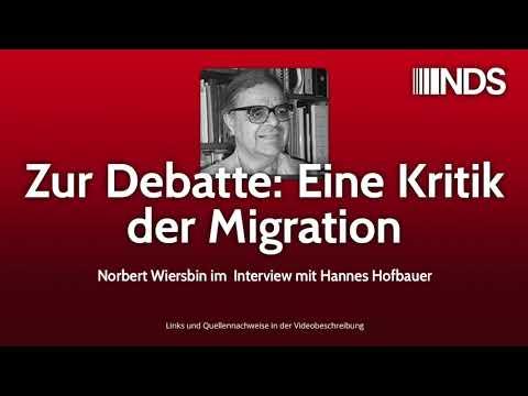 Zur Debatte: Eine Kritik der Migration | Norbert Wiersbin im Interview mit Hannes Hofbauer