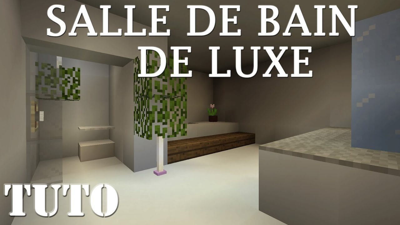 Faire une belle SALLE DE BAIN de LUXE - MINECRAFT PS4 - YouTube
