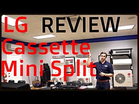 review lg ceiling cassette ductless mini split youtube. Black Bedroom Furniture Sets. Home Design Ideas