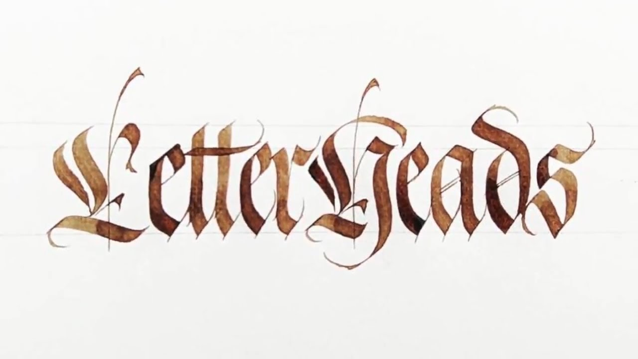 Gothic Fraktur Calligraphy Practice - YouTube