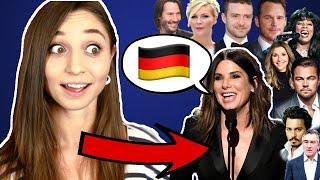 German reacts to AMERICAN CELEBRITIES speaking German! | German Girl in America
