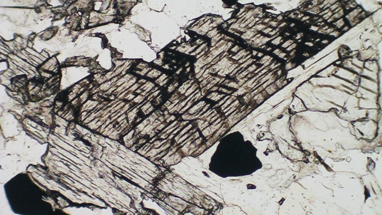 kyanite in thin section FKM-163 PPL polarizer rotation ...