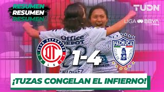 Resumen y Goles | Toluca 1 - 4 Pachuca | Liga MX Femenil - Cuartos de Final (ida) - AP 2019 | TUDN