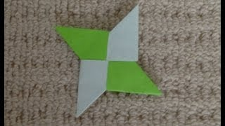折り紙 手裏剣 一枚 折り方 作り方 Origami Ninja Shuriken - How to fold Origami thumbnail
