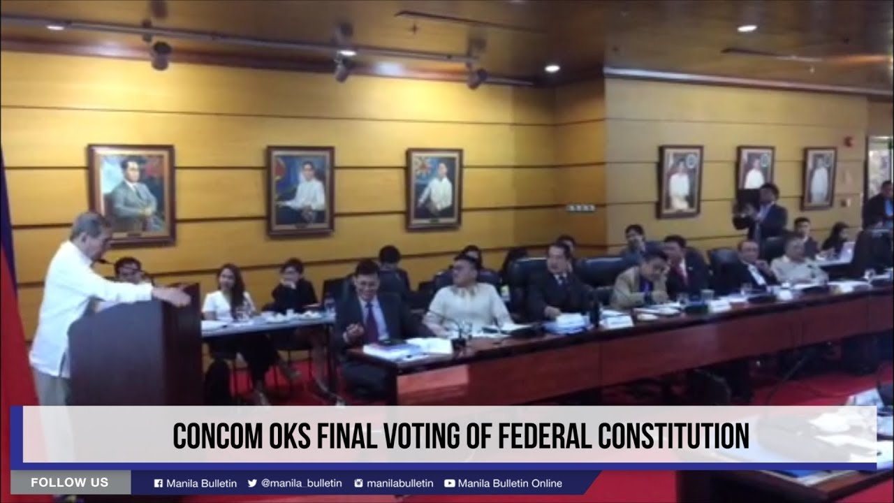 ConCom OKs Final voting of Federal Constitution