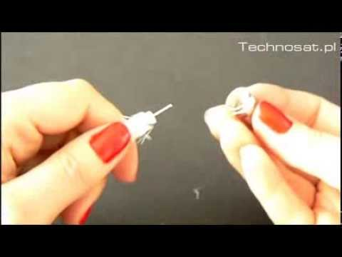 How To Install An F Connector On A Coaxial Cable Simple