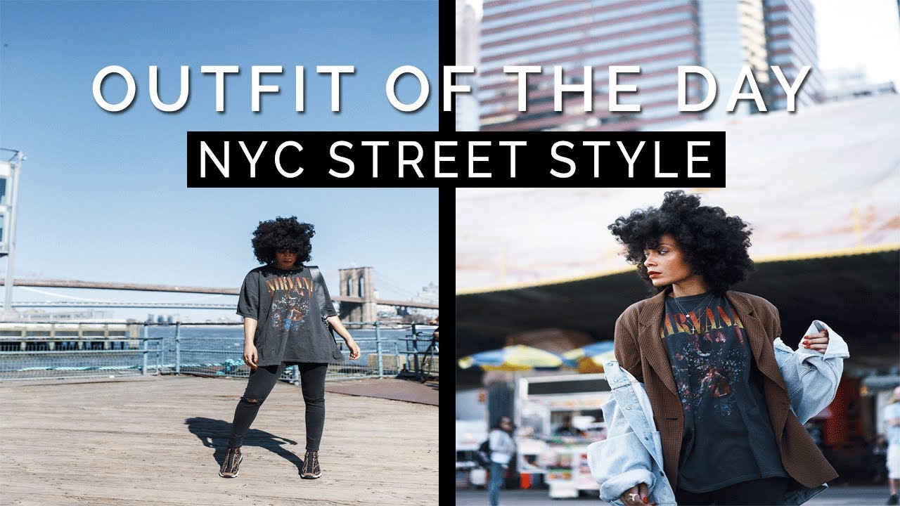 ac170a61192 OUTFIT OF THE DAY - NYC Street Style 📍South St. Seaport - YouTube