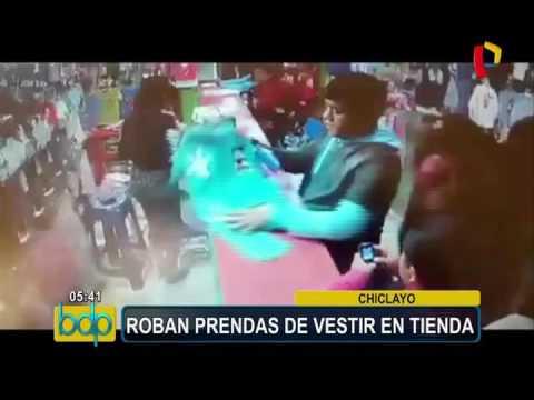 Chiclayo: roban prendas de vestir en tienda