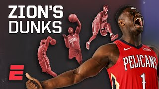Zion Williamson is dunking more than anyone since Shaq at his peak | Signature Shots
