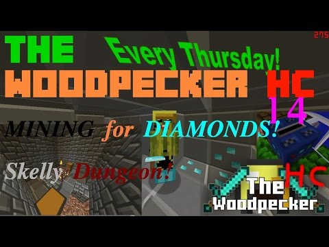 The Woodpecker HC [14] - MINING For DIAMONDS! 💎 Skelly Dungeon!