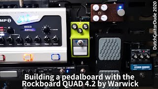 Building a pedalboard with the RockBoard QUAD4.2 by Warwick