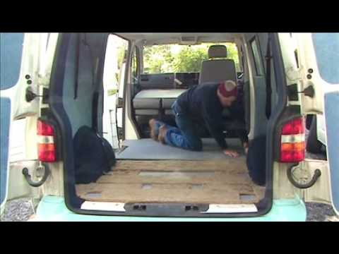 Vw T5 Transporter Amdro Angel Floor Fitting Youtube