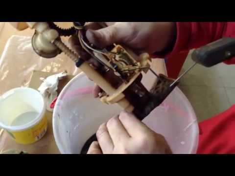How to clean or replace fuel pump, disassemble and assemble.