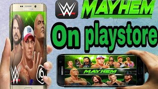 How to download WWE MAYHEM game for Android|| hindi|| By TECNO BOY.