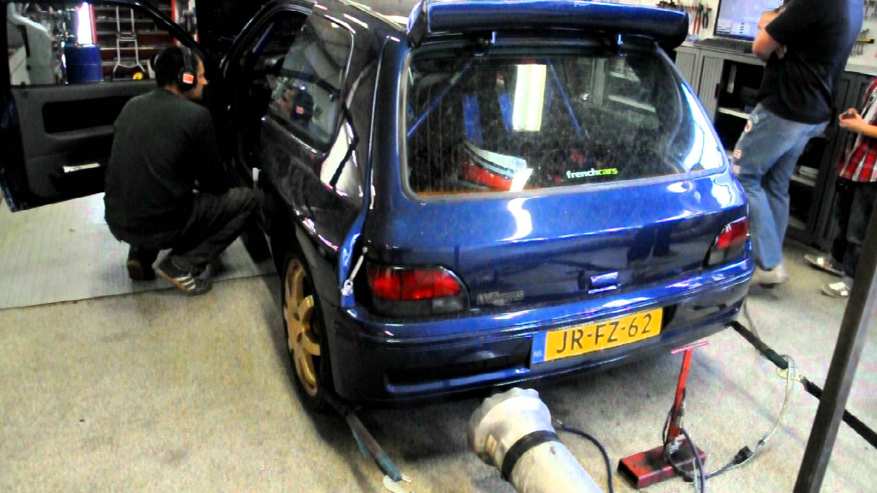 renault clio williams 2 0 16v with maxi bodykit on dyno youtube. Black Bedroom Furniture Sets. Home Design Ideas