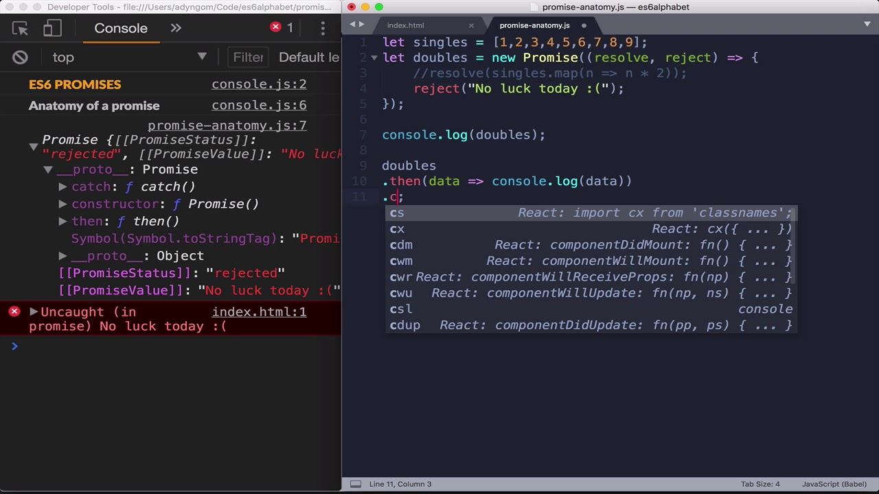 Javascript ES6 - Anatomy of a Promise - YouTube