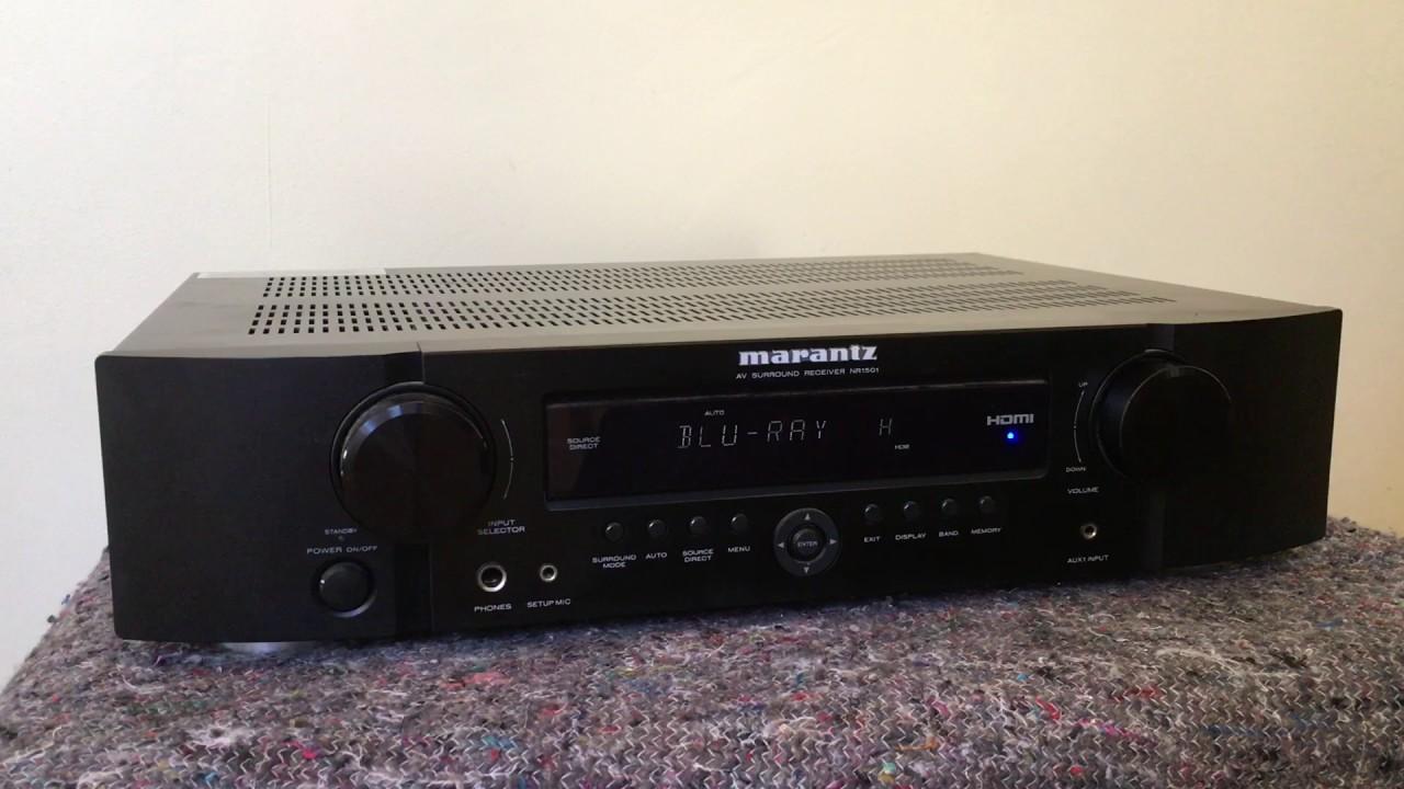 How to reset the Marantz AV receiver NR1501