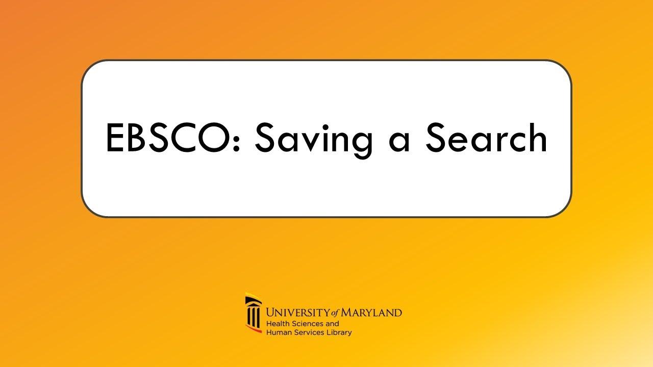 EBSCO Video Thumbnail