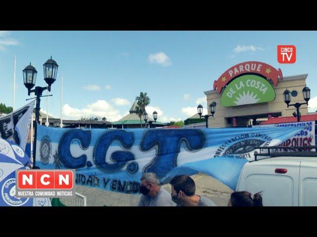 CINCO TV - La CGT Zona Norte rechaza el cierre del Parque de la Costa