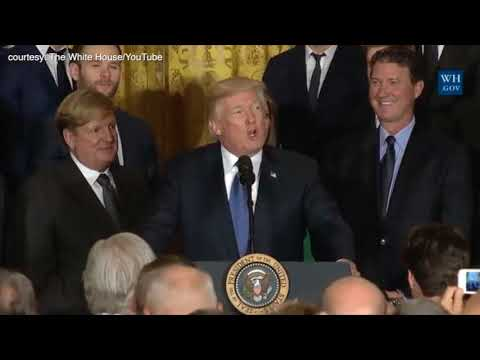 Sidney Crosby gets singled out by Donald Trump at White House