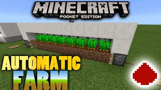 Minecraft PE: Automatic Farm - Redstone Creation Tutorial! [BEST FARM]