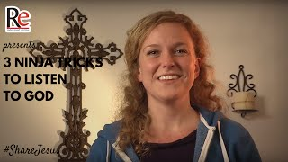 ShareJesus Lent Video 9: 3 Ninja Tricks to Listen to God(3 TRICKS TO LISTEN TO GOD How can you hear God's voice? Megan Mastroianni shares 3 great tips to help you in   #  ShareJesus   Lent Video 8., 2016-02-16T05:03:39.000Z)
