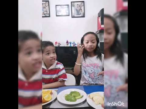Zsofie and Zane Eating Fruits Challenge 1.0