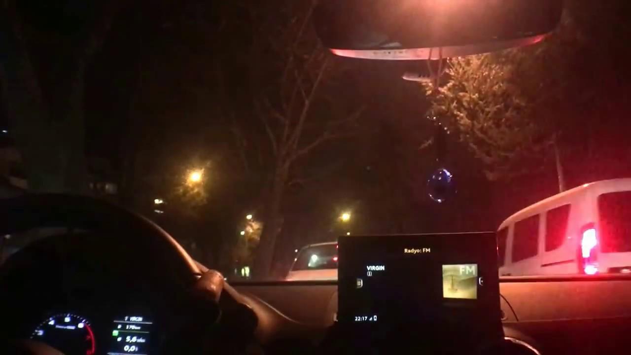 audi a3 1.0 tfsi Şehiriçi gece sürüş yakıt tüketimi - night drive