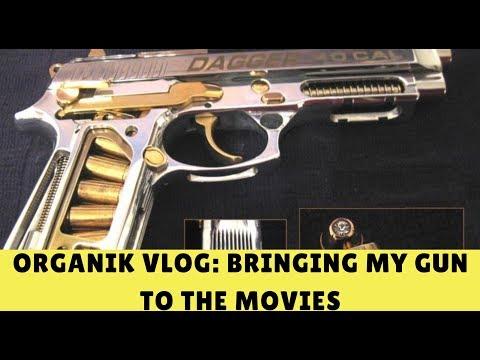 Organik vlog: bringing my gun( sig sauer p250) to the movies