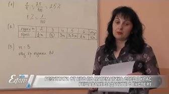 Как се справиха седмокласниците с матурата по математика?