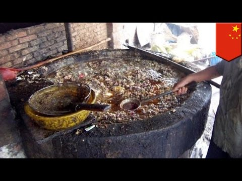 China gutter oil: Disgusting recycled oil and sewage is used to cook Chinese street food - TomoNews