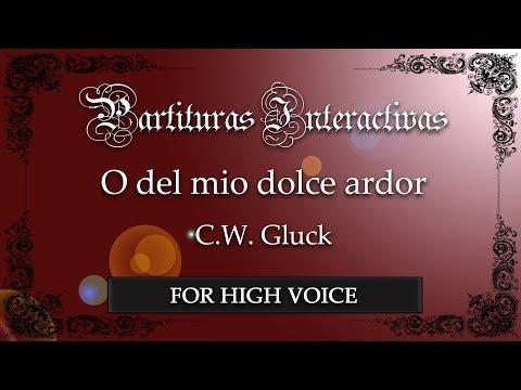 O del mio dolce ardor - C. W. Gluck (Karaoke - Original Key: G minor) (Bonus track)