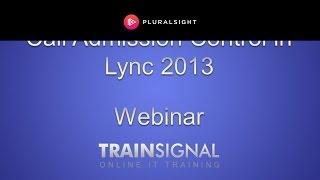 Call Admission Control in Lync 2013