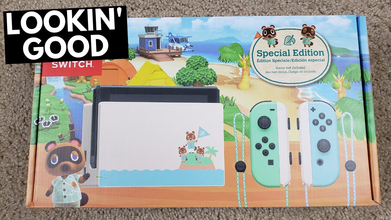 I Bought The Animal Crossing Themed Switch From Gamestop Youtube