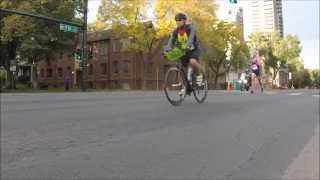 Running Form at the Denver Rock 'n' Roll Half Marathon (Slow Motion)