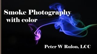 Smoke Photography with color
